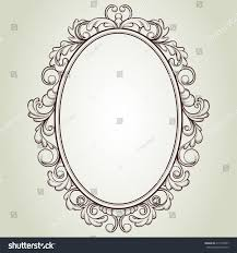 oval frame tattoo design. Antique Mirror With Rose Tattoo Oval Frame Design