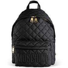 Moschino Faux leather-trimmed quilted shell backpack featuring ... & Moschino Rucksack (£388) ❤ liked on Polyvore featuring bags, backpacks,  steel Adamdwight.com
