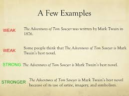 thesis statements 10 a few examples the adventures of tom sawyer