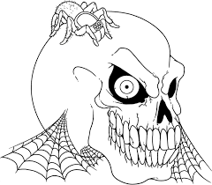 Small Picture Creepy Halloween Coloring Pages Coloring Page for Kids