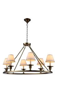 elegant lighting chandelier 6 light pendant in burnished brass halo