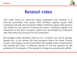 politics scenario submission for politics competition politics related video this video shows an interview about capitalism and whether it is directly associated