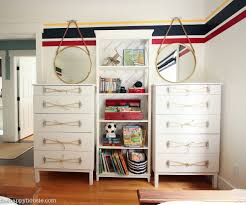 tarva dresser ikea. Ikea Tarva Hack Nautical Style Dresser Makeover With Dock Cleat And Rope Handles At Thehappyhousie-