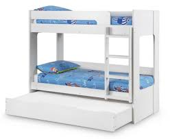 happy beds ellie white wooden bunk bed and trundle guestbed frame only 3 single 90 x 190 cm co uk kitchen home