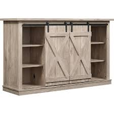 cottonwood 54 a console tv stand in ashland pine w sliding barn doors