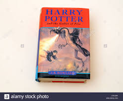 harry potter and the goblet of fire hardback book stock image