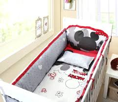 red baby boy crib bedding sets mickey mouse bumper dumbo