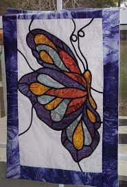 Best 25+ Butterfly quilt pattern ideas on Pinterest   Butterfly ... & butterfly quilt - I want to make one in this stained glass style some day Adamdwight.com
