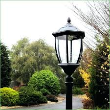 outdoor plug in lamp post lighting solar garden lamp post style black ivory electric plug in outdoor plug in lamp