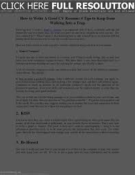 How To Write A Good Resume Resume For Study