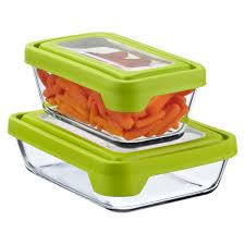 glass food containers anchor hocking trueseal rectangle storage