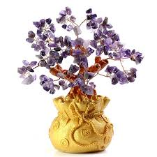 Jewelryroom.com - GORGEOUS ! NATURAL AMETHYST CRYSTAL TREE OF ATTRACKING  LUCK - Item #: 397848