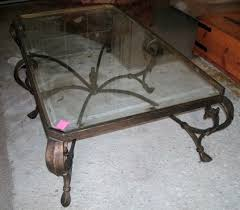 ge digital wrought iron coffee table with glass top is usually in small size with variation