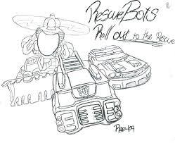 Transformer Rescue Bot Coloring Pages Bltidm