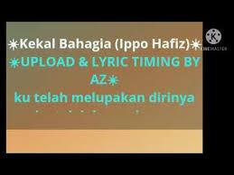 Ippo hafiz akan keluarkan lagu baru untuk soundtrack drama adaptasi novel cinta si wedding planner. Video Kekal Bahagia