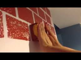 how to paint a fake brick wall you