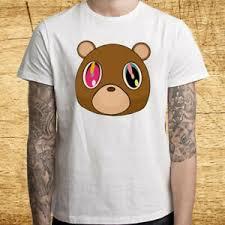 Details About Kanye West Tour Graduation Bear Logo Mens White T Shirt Size S M L Xl 2xl 3xl