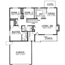 1 story house plans. Ranch Style House Plans - Plan 1-227 1 Story M