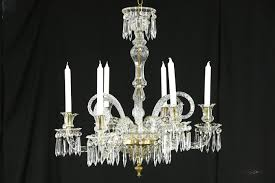 crystal cut glass 1850 s antique 6 candle non electric chandelier