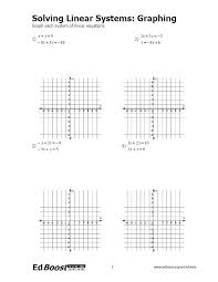 graphing systems of linear equations using a table worksheets worksheet values