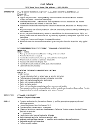 Hospital Resume Sample Hospital Technician Resume Samples Velvet Jobs 6