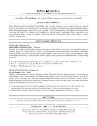 Free Private Banker Resume