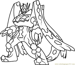 Pokemon Coloring Pages Mega Evolution Vitlt Download Of Zygarde 17