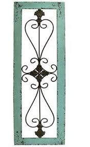 large turquoise framed metal wall decor art metal scroll wooden frame  on turquoise wood and metal wall art with large turquoise framed metal wall decor art metal scroll wooden