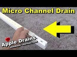 pool deck drain micro channel drain