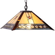 chloe lighting tristan tiffany style 2 light mission hanging pendant fixture