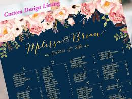 Wedding Sign Wedding Seating Chart Alphabetical Wedding