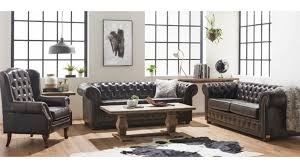 rochester 3 seater leather sofa