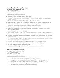 Customer Service Job Description For Resume Housekeeping Description ...
