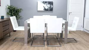 white leather dining room chairs. White Leather Dining Chairs Stylish Cantilever And Gloss Table Contemporary . Room R