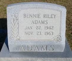 Bennie Riley Adams (1942-1963) - Find A Grave Memorial