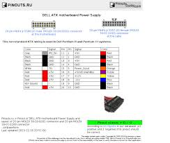 dell atx motherboard power supply pinout diagram pinouts ru dell atx motherboard power supply diagram