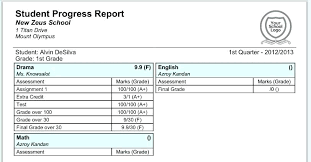 Printable Progress Reports For Elementary Students Elementary Progress Report Template