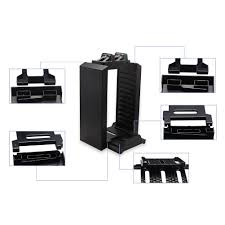 sony official games tower and charging station for ps4. yccteam ps4 games tower dual charger, holder for sony playstation 4: amazon.co.uk: pc \u0026 video official and charging station ps4