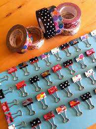 Binder Clips | Creative Ways to Personalize with Washi Tape