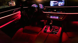 How To Change Bmw Interior Lights Color 2017 Bmw 7 Series G11 750d Ambient Lighting All Colors Detailed Presentation Test Pl