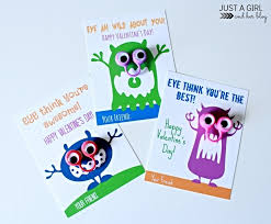 valentine s day cards for boys fun monster valentines by just a and her