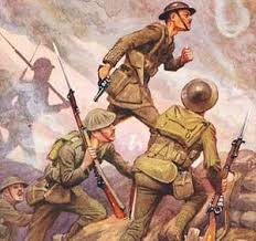 Image result for over the top + World War One images