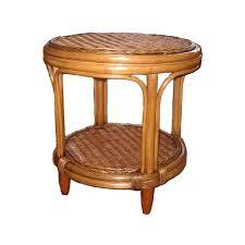 manuel cane wicker side table