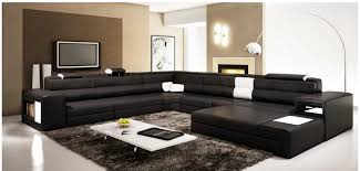 best black sectional sofas amazing polaris large sectional sofa in black leather