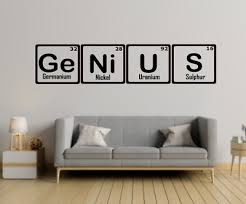 genius at work funny vinyl wall
