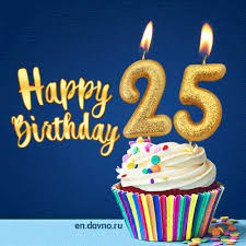 Happy Birthday 25 Years Old Animated Card Download On Davno