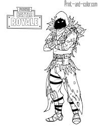 Fortnite Battle Royale Coloring Page Raven Fortnite In 2019