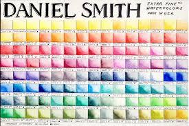 Daniel Smith Extra Fine Watercolors Color Chart Color
