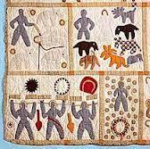 Bible quilt – The Tromp Queen & Lower left corner of Harriet Powers' Bible Quilt: Smithsonian Museum Adamdwight.com