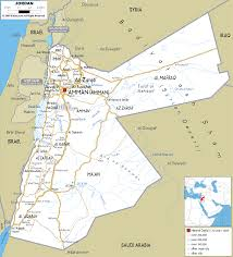 detailed clear large road map of jordan  ezilon maps